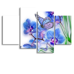$enCountryForm.capitalKeyWord Australia - 4 Panel butterfly Painting Canvas Wall Art Picture Home Decoration Living Room Canvas Print Modern Painting--Large Canvas Art Cheap SD-016