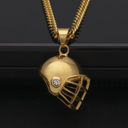 Discount gold baseball pendants gold baseball pendants 2018 on men stainless steel pave sport football baseball helmet pendant charm gold bling cz rhinestone hip hop necklace jewelry affordable gold baseball pendants aloadofball Gallery