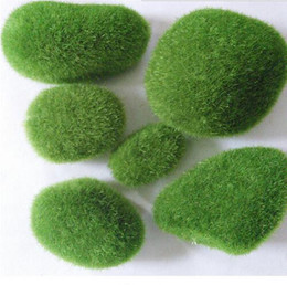 Wholesale 5pcs set Fairy Garden Mini Foam Flocking Stone Craft Moss House Home Decoration Bonsai Succulent Gnomes Micro Landscape