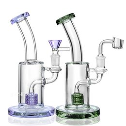 China Glass Bubblers Pipe TORO Bong Matrix Perc Bongs Dab Rigs 5mm Thick Oil Rig Smoking Pipes with 14mm Bowl and Quartz Banger cheap toro pipe oil rig suppliers