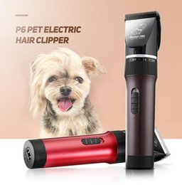Cutter eleCtriC sCissors online shopping - New BaoRun P6 Professional Rechargeable Pet Electric Hair Clipper Cutter Scissor US Plug With Grooming Kit Brown Red For Pet