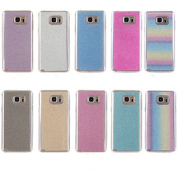 $enCountryForm.capitalKeyWord Canada - Coque For Samsung Galaxy Note 5 N9200 Cover Fashion Bling Glitter Gradient Mobile Phone Case Soft TPU Frosted Shimmering powder Phone Case