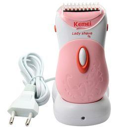 $enCountryForm.capitalKeyWord Canada - Kemei washable Electric shaver Hair clipper Epilator Razor for women lady body care cutting tools hair removal trimmer shaving
