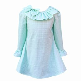 China Kseniya Kids Children Kids Girls Spring Yellow Doll Collar Cotton Comfortable And Lovely Dress For Girls Girl Child Costumes suppliers