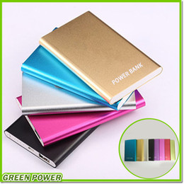 Wholesale 8 colour Power Bank mAh External Battery Powerbank Charger Cell Phone Power Banks With Retail Box For Mobile Phone iPad