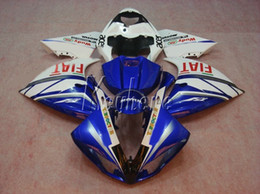 r1 11 Canada - Injection bodywork fairing kit for Yamaha YZF R1 09 10 11 12 13 14 white blue fairings set YZFR1 2009-2014 OR11