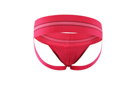 $enCountryForm.capitalKeyWord Australia - 2017 New Men's Sexy Underwear Wide belt Hips Empty Briefs Double Thong Jockstrap Boxer 3 pieces of a package WSH0079*3