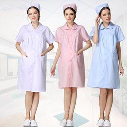 65f0ecc246278 The nurse maternity clothing summer wear white doctor nurse pregnant women  nurses pregnant women dress fabrics overalls
