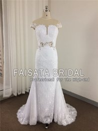 Barato Trompete Da Sereia Do Desenhista-Fotos reais New Designer Summer Beach Boho Vintage Lace Mermaid Wedding Dresses Snow Plus Size Vestidos de noiva Trompete Noiva Gown