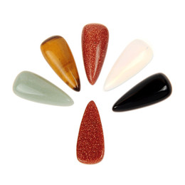 $enCountryForm.capitalKeyWord Canada - 10pcs lot Created Sunflower Seeds Shape Mixed Natural Stone Cabochons Flatback Crystal Quartz Cabochon Cameo For Jewelry Settings Blank Base