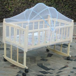 kids canopy tents NZ - Wholesale-Baby Crib Mosquito Net Tent Infant Bed Canopy Crib Netting Stand Kids Baby Bed Accessories Protector Baby Bed Mosquito Mesh