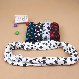 Lovely Scarves Wholesale Australia - Wholesale- Lovely Cute Toddlers Kids Girls Boys Snood Winter Scarf Stars Decor Scarves Baby Neckerchief Time-limited Hot 2016
