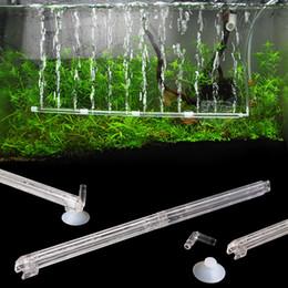 Acquario Fish Tank Tenda Air Vent Bubble Bar Diffusore di rilascio Set New Plastic Aquarium Fish Tank Accessori akvaryum dekor in Offerta