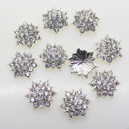 $enCountryForm.capitalKeyWord NZ - 100pcs 18mm Alloy Button Clear Crystal Rhinestone Silver Base For Flower Cluster Hair Flower Wedding Embellishment Decor