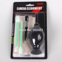 Chinese  Wholesale- Black blowing 6 in1 Pieces Camera Sensor Cleaning Kit for CCD & COMS DC DV SLR DSLR Lens Filter UV +Free Shipping! manufacturers