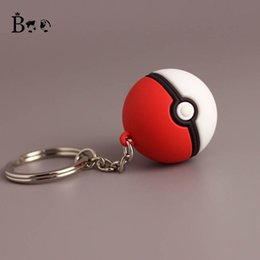 Femmes Poupées Hommes Pas Cher-Boo Poke Pikachu Pocket Monster Pokeball Toys Keychain Porte-clés Red White Ball Dolls Pendentif Porte-clés Christmas Women Men Gift