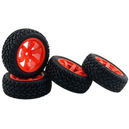 Electric Road Cars UK - RC HSP HPI 704-8019 Rubber Rally Tires & Wheel Rims For 1:10 On-Road Rally Car
