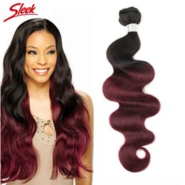 Sleek hair extensions canada best selling sleek hair extensions rebecca ombre brazilian virgin hair weaves two tone 1b 99j peruvian malaysian indian cambodian body wave human hair extensions sleek hair pmusecretfo Gallery