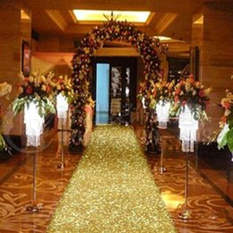 photo booth backdrops 2019 - 33 Feet Shiny Gold Pearlescent Aisle Runner T Station Carpet For Wedding Backdrop Decroation 0.8 1 1.2 1.4m Wide cheap p
