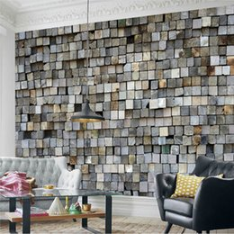 Wholesale Custom Photo Brick Wall Wallpaper 3D Wall Murals Country Style  Living Room Background Decorative Wall Paper Papel De Parede 3D