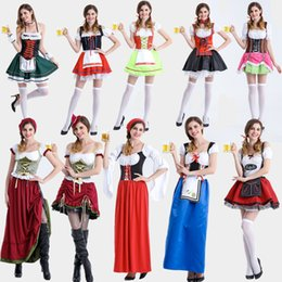 kinds of ladies womens oktobermiss oktoberfest bavarian beer festival fancy dress costume halloween queen princess dress s xl