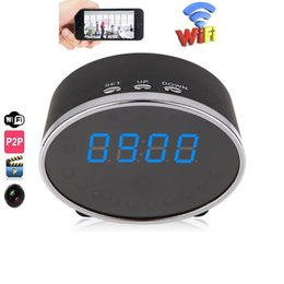 China WIFI Clock camera Night Vision Home Security P2P mini IP Cam Digital Alarm Clock DVR Motion Detection live view baby monitor Nanny Cam cheap digital camera clock night vision suppliers