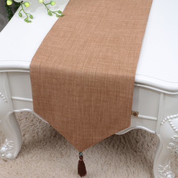 table runners cotton NZ - 120 inch Long Pure Cotton Linen Table Runner High End Modern Simple Dining Table Cloth China style Table Mats Protection Pads 300x33 cm
