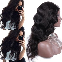 Longest Human Hair Canada - Virgin Brazilian Human Hair Full Lace Wigs Long Wavy Unprocessed Lace Front Wigs With Bleached Knots Free Part