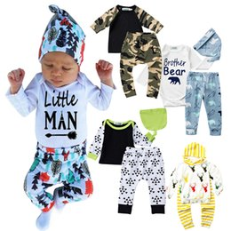 $enCountryForm.capitalKeyWord Canada - Fashion little man Children Clothing Sets cotton baby clothes 3 pcs long sleeve infant rompers trousers hat