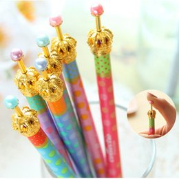 Discount crown pen stationery - 30Pcs  Lot Free Shipping Gel Pen Crown Dream Dot &Dots Kawaii Stationery Caneta Novelty Favor Gift School Supplies Op 04