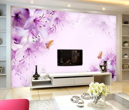 $enCountryForm.capitalKeyWord Canada - Custom any size Dream Lily TV Wall Decorative Painting mural 3d wallpaper 3d wall papers for tv backdrop