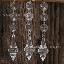 Crystal beads wedding deCorations online shopping - Transparent Water Drop Acrylic Beads Crystal Bead Wedding Props Decorative Pendant Curtain Decoration Ornaments hm R
