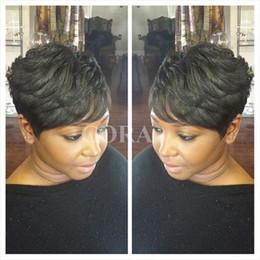 Hot Hair cuts online shopping - Pixie wigs Density Hot short cut wigs glueless brazilian short full lace bob human hair wigs bob for black women