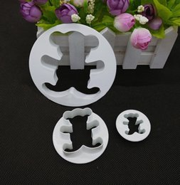 $enCountryForm.capitalKeyWord Canada - 3Pcs Teddy Bear Cookie Fondant Cake Icing Cutter Mold Gumpaste Biscuit Decor Set family time mon girlfriend gift