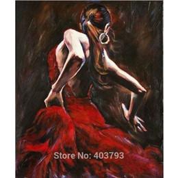 Flamenco dancer oil paintings online shopping - 100 Handmade Handcraft Portrait oil painting on canvas No stretch Spanish Flamenco Dancer Home Decoration Christmas Gift