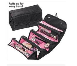 roll n cosmetic bag NZ - ROLL-N-GO Make Up Cosmetic Bag Case Cases Women Makeup Bag Hanging Toiletries Travel Kit Jewelry Organizer Cosmetic Case Foldable