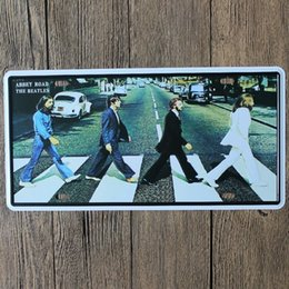 $enCountryForm.capitalKeyWord NZ - Abbey Road The Beatles vintage embossed metal tin signs garage car plate licence number plate painting plaque picture 15x30cm