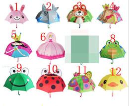 10 color High quality creative children umbrella stereo modelling cartoon animals Cute cartoon umbrella stereo modelling animals from kids polaroid glasses suppliers