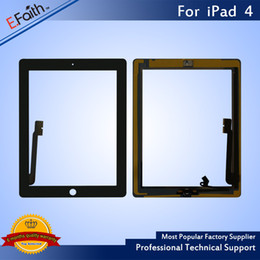 Discount apple wholesale items - Hot item-For iPad 4 Black Touch Screen Digitizer with Home Butoon+Adhesive & Free DHL Shipping