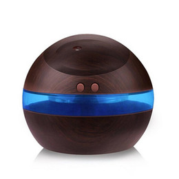 Wholesale ml USB Ultrasonic Humidifier Aroma Diffuser Essential Oil Diffuser Aromatherapy mist maker with Blue LED Light