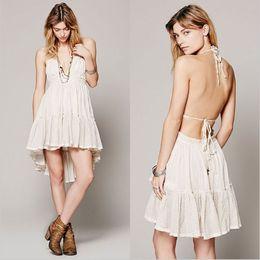 Women Fashion Dress 2017 Summer High Quality Top-selling Tied Halter Neck  Backless Polka Dot Lap Beach Dress Women Sexy Dress 4ff7954e4