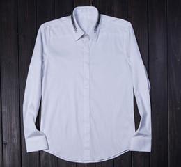 $enCountryForm.capitalKeyWord Canada - Ink Printing Collar Trend Cotton Men's Casual Shirt Long Sleeve Slim Spring Brand Clothing 2017 New Arrival