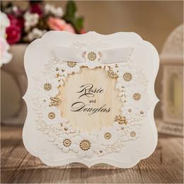 Elegant Flower Embossed Wedding Invitations Online Elegant