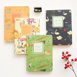 Wholesale  M44 Elegant Flower Bird Portable Notebook Diary Sketchbook  School Office Supply Student Stationery Gift Elegant Office Supplies On Sale