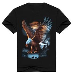 $enCountryForm.capitalKeyWord Canada - 2017 Fashion streetwear men's 3D eagle print t-shirt short sleeve metal rock animal clothing t shirt black o neck Tops tshirt BMTX14 F