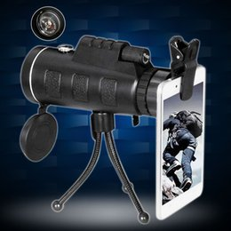 HandHeld monocular telescope online shopping - Day and Night Vision HD x60 Handheld Optical Monocular Outdoor Camping Hunting Telescope Zoom With Compass Tripod Phone Clip MOQ