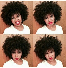 China Full Lace Human Hair Wigs For Black Women Peruvian Afro Kinky Curly U Part Wigs 100% Human Hair LaurieJ Hair cheap human hair u part wig kinky suppliers