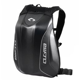 Chinese  2017 CUCYMA Motorcycle Backpack Knight Riding Racing Bag Motocross Computer Black Carbon Fiber Hard Shell Backpack manufacturers