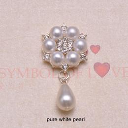 $enCountryForm.capitalKeyWord NZ - (J0666) 25mmx42mm metal rhinestone embellishment, flat back ,ivory or pure white pearl,100pcs lot