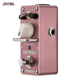 True bypass pedals online shopping - AROMA AOS Octpus Polyphonic Octave Electric Guitar Effect Pedal Durable Mini Single Guitarra Effect Pedal with True Bypass